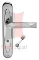 Klamka FISH Crystal 700PW z blokadą WC CR chromowany błyszczący