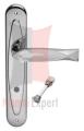 Klamka FISH Crystal 700PW z blokadą WC CS chromowany matowy