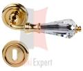 Klamka Veronica 103 z rozetą na klucz