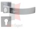 Klamka ELIOS Crystal Bianco 019 z dolną rozetą na wkladke