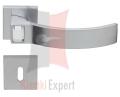 Klamka ELIOS Crystal Bianco 019 z dolną rozetą na zwykły klucz